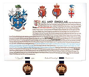 Ari Norman - Certificate from Royal College of Arms for Ari Norman Familial Coat of Arms