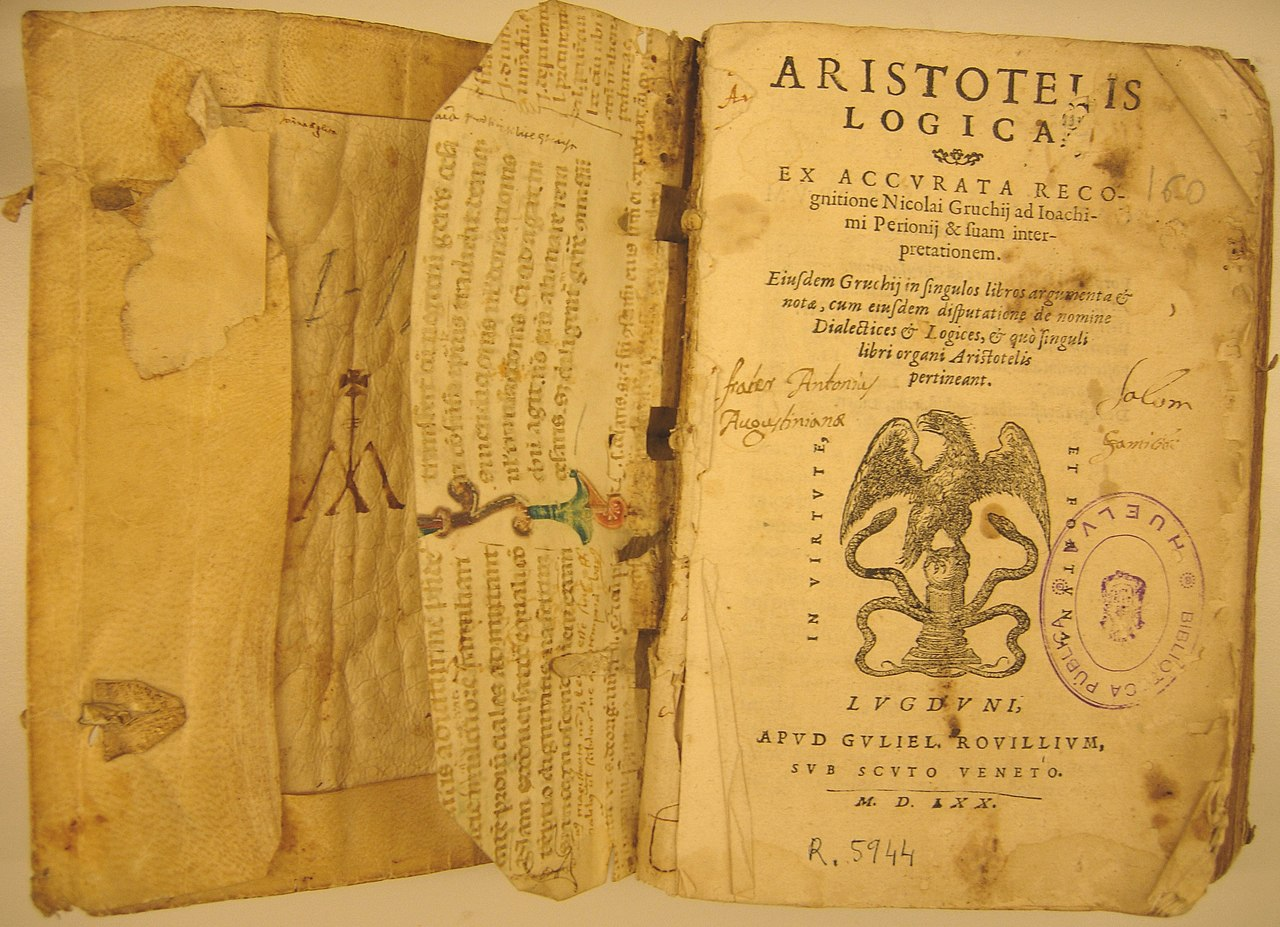File Aristoteles Logica 1570 Biblioteca Huelva Wikimedia Mons