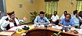 Arjun Ram Meghwal interacting with the officials of Brahmaputra Board regarding the activities of Board, in Guwahati.JPG
