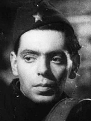 Arkady Raikin - Raikin in the movie Concert for the Front, 1942