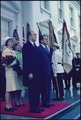 Arrival ceremony for Prime Minister Hilmar Baunsgaard of Denmark and Mrs. Baunsgaard - NARA - 194312.tif