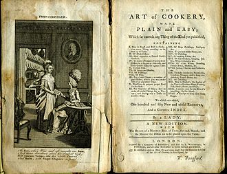 Ice cream - Title page to The Art of Cookery by Hannah Glasse