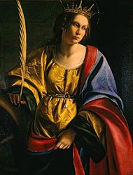 Artemisia Gentileschi - 'Saint Catherine of Alexandria', oil on canvas painting, c. 1620, El Paso Museum of Art.jpg