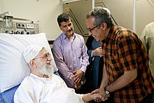 Artists and writers visiting Ali Khamenei in hospital 20.jpg