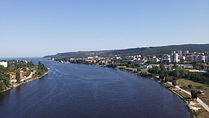 Asparuhovo, Varna - View of the district from the Asparuhov bridge.