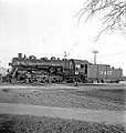 Atchison, Topeka, and Santa Fe, Locomotive No. 3417 with Tender, Left Side (15250881783).jpg