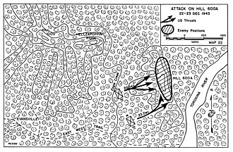 Battle of Hellzapoppin Ridge and Hill 600A - The attack on Hill 600A 22–23 December 1943