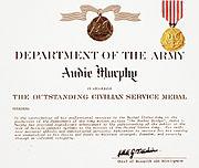 Audie Murphy Outstanding Civilian Service Certificate