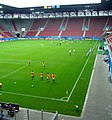 Augsburg Stadium U-20 Women 2010 Southern Stand and warm-up before Nigeria-Japan.jpg