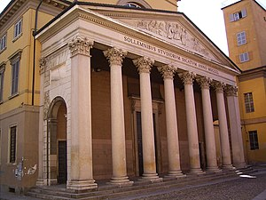 The University of Pavia's Aula Magna.