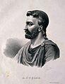 Aurelius Cornelius Celsus. Lithograph by P. R. Vigneron. Wellcome V0001047.jpg
