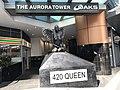 Aurora (sculpture) at the entrance to Aurora Tower, Brisbane.jpg