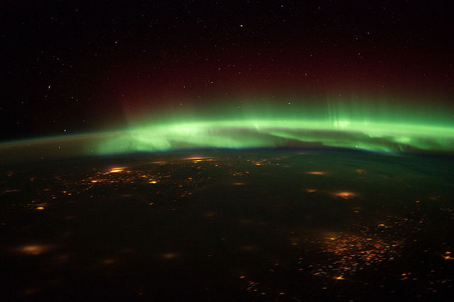 Aurora Borealis Over the US Midwest