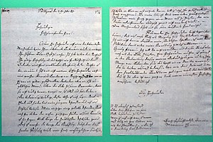 Marianne Ehrmann - Letter written by Marianne Ehrmann on 29 September 1789 to J. C. Lavater in Zürich to support her publications.