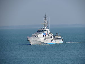 Australian Customs Vessel ACV30 Botany Bay returns to Stokes Hill Wharf.jpg