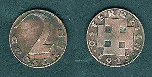 Groschen - Image: Austria 2Grosze 1925