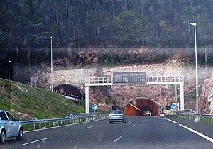 Transport in Spain - A-67. Autovía de la Meseta (the Meseta Freeway) in Cantabria.
