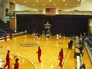 Rice Owls men's basketball - Tudor Fieldhouse, before the 2008 renovations.