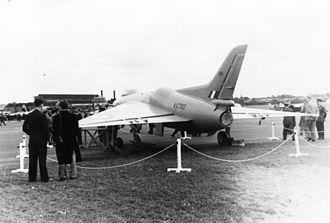 Avro 707 - The Avro 707B at Farnborough, in 1951.