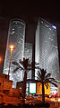 Azriely Towers at night.jpg