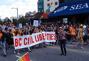 British Columbia Civil Liberties Association - BC Civil Liberties Association at the July 31, 2011 Vancouver Pride Festival