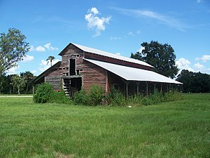 National Register of Historic Places listings in Glades County, Florida - Image: BISR FL Red Barn 01