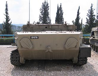 BTR-50 - Rear view of the same APC. The two water-jets have their lids closed.