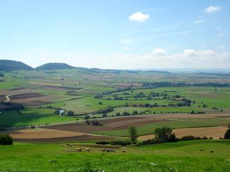 Baar (region) - view of the Baaralb and the Danube