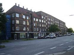 Brick-buildings at the street Horner Landstraße in 2006.