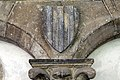 Badia fiorentina, chiostro degli aranci, mostra dell'antica sala capitolare, 05 stemma ugo di toscana.jpg