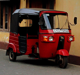 Motorized version of the rickshaw