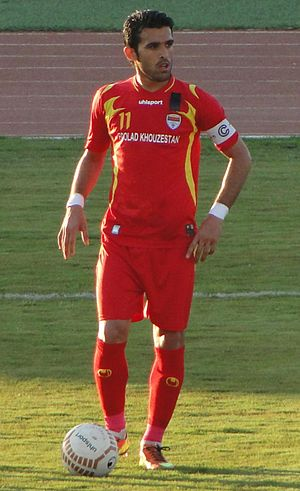 Bakhtiar Rahmani - Rahmani captaining Foolad in a match against Paykan, 22 February 2013