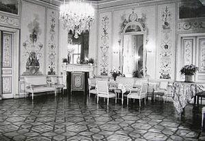 Czapski Palace - Ballroom, neoclassical paneling, before 1939