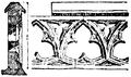 Balustrad, gotisk, från katedralen i Carcassone 1300-talet, Nordisk familjebok.png