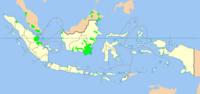 Peta penyebaran suku bangsa Banjar dan bahasa Banjar di berbagai daerah.