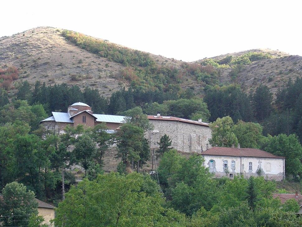Banjska Monastery, overview from below