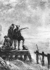 Anno 1574. Oranje ziet hoe de vloot van d'Avila het tij laat verlopen