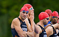 Bas Diederen at the start of 31th Twinfield Triathlon Veenendaal 2013.jpg