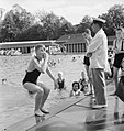 Bathing Pool- Entertainment and Relaxation in the Open Air, Guildford, Surrey, England, 1943 D15974.jpg