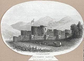 Beaumaris Castle. built by Edward 1st. 1295