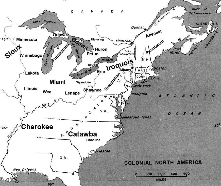 Beaver wars map