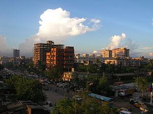 Behala - Behala downtown, from ODRC Govt Housing.