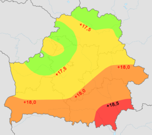 Geography of belarus wikipedia average temperature in july all numbers are in c gumiabroncs Choice Image