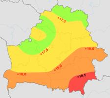 Беларусь над уровнем моря