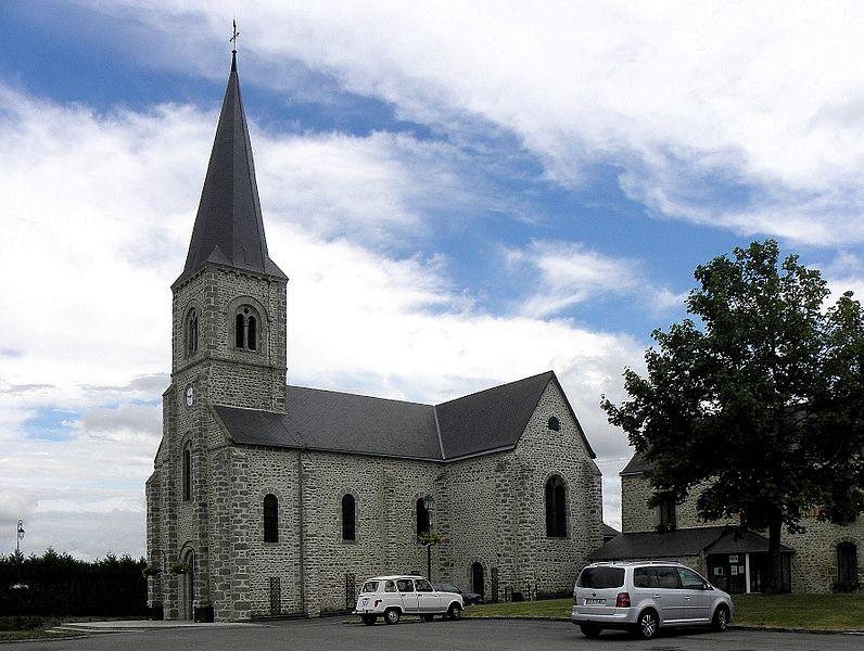 Église de Bourgnouvel en Belgeard (53).