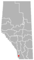 Bellevue, Alberta Location.png