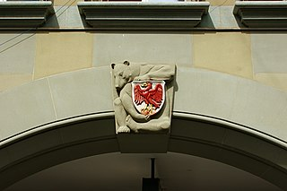 bear with coat of arms