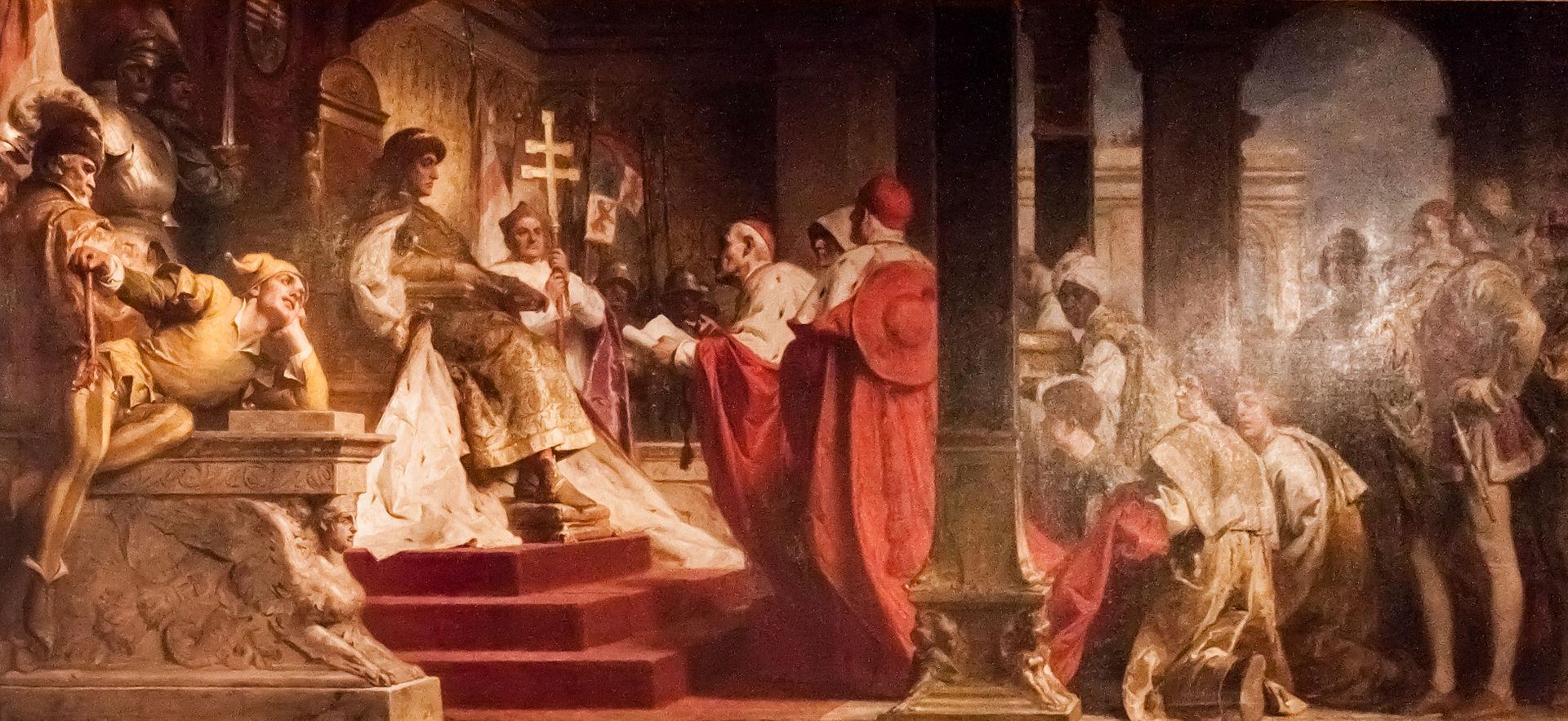 Бенцур - Матиас принимает папу Legates.jpg