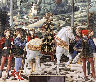 Council of Florence - A figure in Benozzo Gozzoli's 1459 Journey of the Magi is assumed to portrait John VIII Palaiologos.