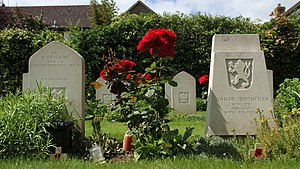 Benson, Oxfordshire - Second World War graves of Polish and Czechoslovak airmen in the extension of St Helen's parish churchyard